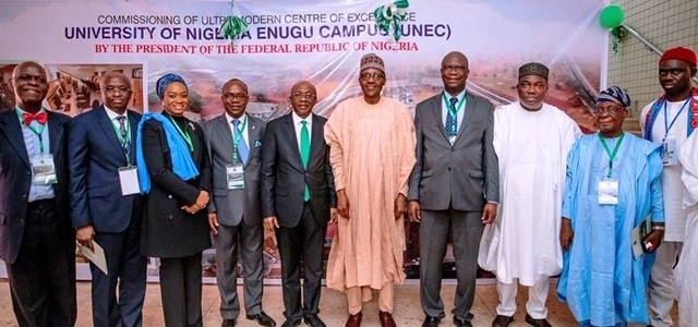 Buhari inaugurates CBN project at UNEC