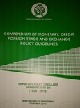 The Compedium of Monetary, Credit, Foreign Trade and Exchange Policy Guidelines